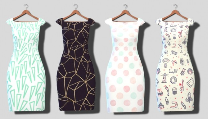 Dresses at Descargas Sims image 8017 670x383 Sims 4 Updates