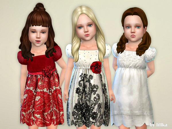 Sims 4 Toddler Dresses Collection P77 by lillka at TSR