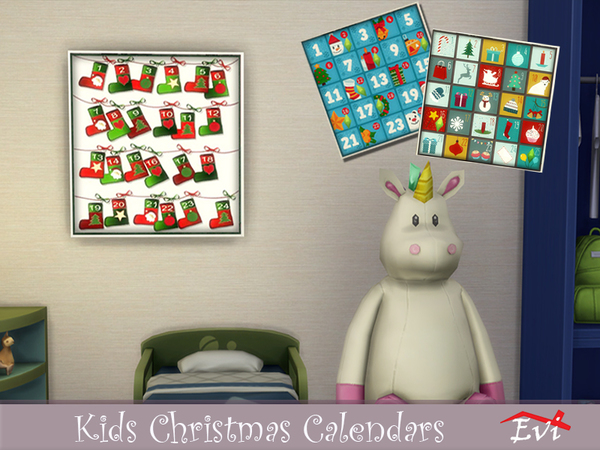 Kids Christmas Calendars by evi at TSR image 810 Sims 4 Updates
