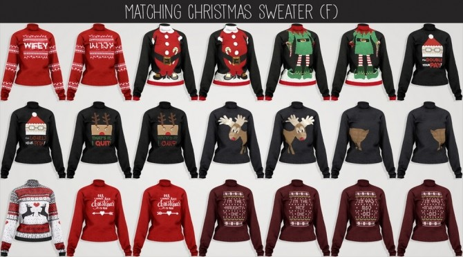 Sims 4 Christmas Collection 2018 PART 1 at Elliesimple