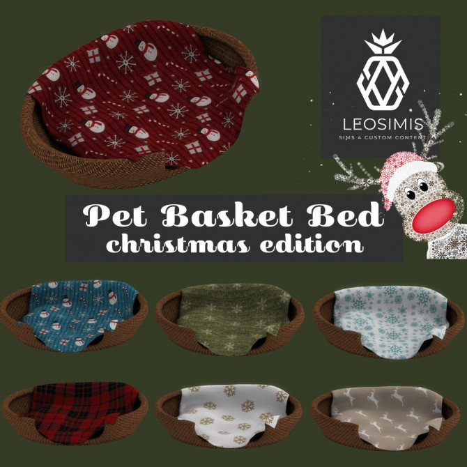 Pet basket bed Christmas edition at Leo Sims image 821 670x670 Sims 4 Updates