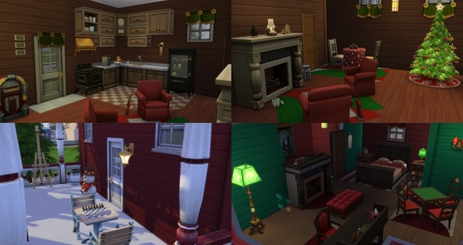 Sims 4 Christmas Cabin by bonensjaak at Mod The Sims