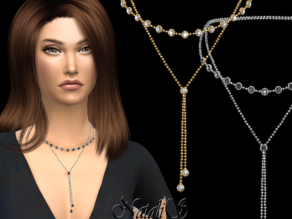 Double round crystals necklace by NataliS at TSR image 826 Sims 4 Updates