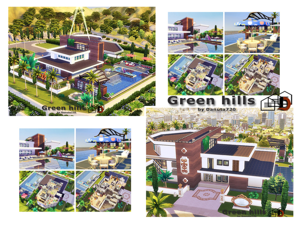 Sims 4 Green hills house by Danuta720 at TSR
