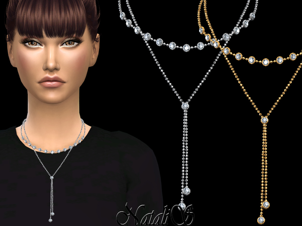 Double round crystals necklace by NataliS at TSR image 836 Sims 4 Updates