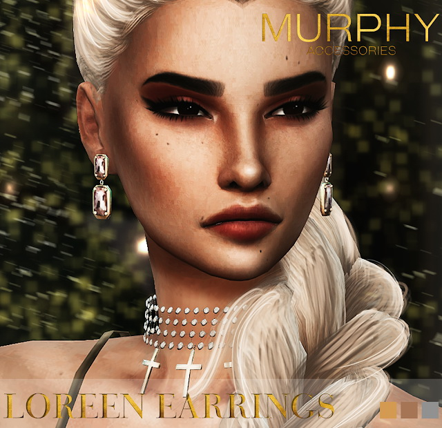 Loreen Earrings by Victoria Kelmann at MURPHY image 848 Sims 4 Updates