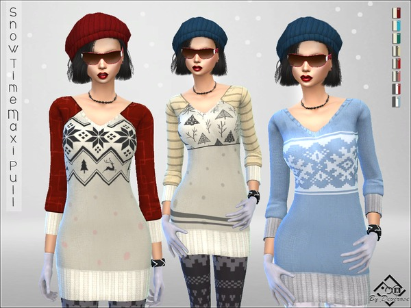 Snow Time Maxi Pullover by Devirose at TSR image 85 Sims 4 Updates