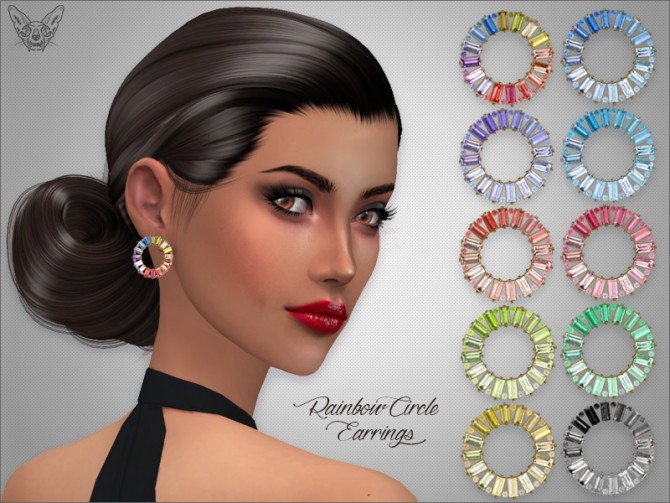 Sims 4 Rainbow Circle Earrings at Giulietta