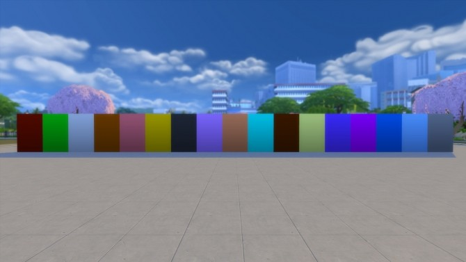 Sims 4 Solid color wall paint by David L89 at Mod The Sims