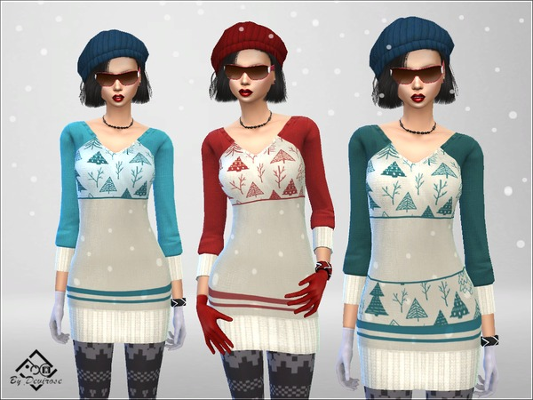 Snow Time Maxi Pullover by Devirose at TSR image 86 Sims 4 Updates