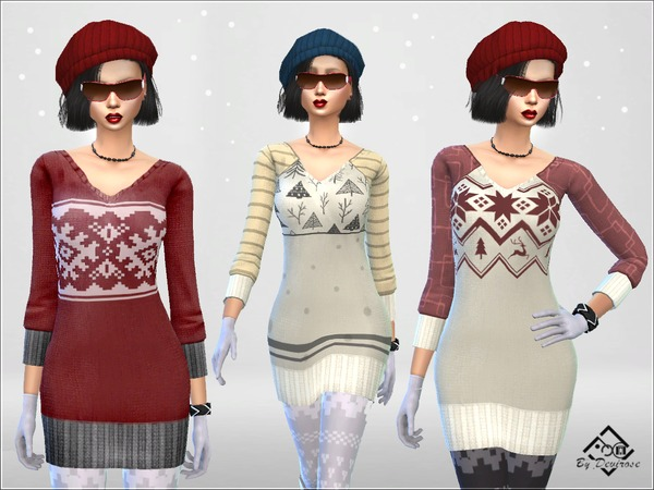 Snow Time Maxi Pullover by Devirose at TSR image 87 Sims 4 Updates