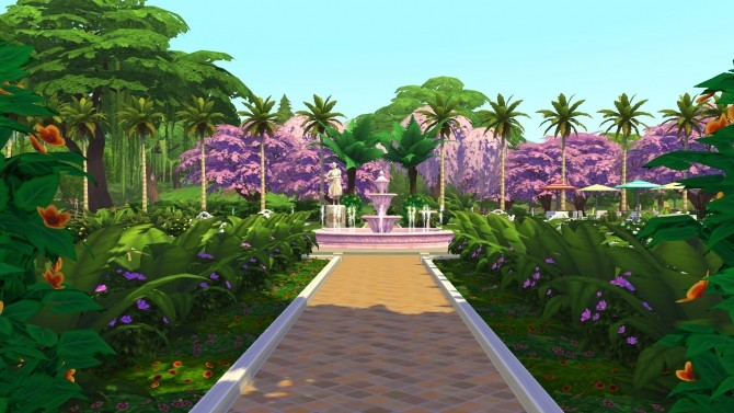 Sims 4 Palm Park (No CC) by Brinessa at Mod The Sims
