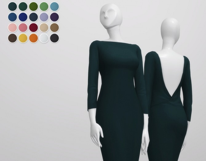 Basic pencil dress V2 at Rusty Nail image 8717 670x522 Sims 4 Updates