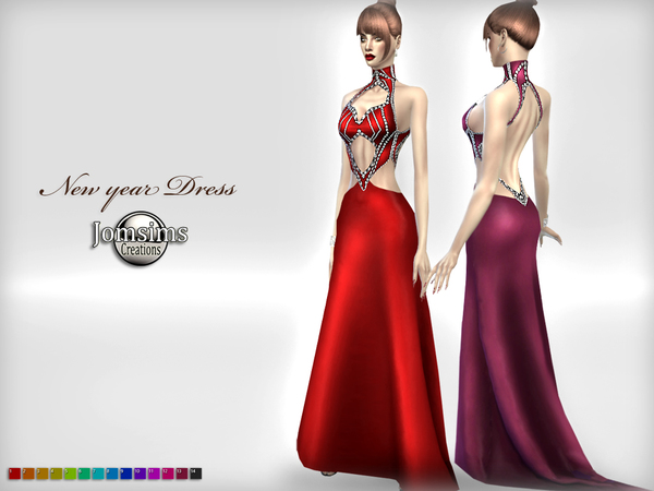 New year dress by jomsims at TSR image 878 Sims 4 Updates