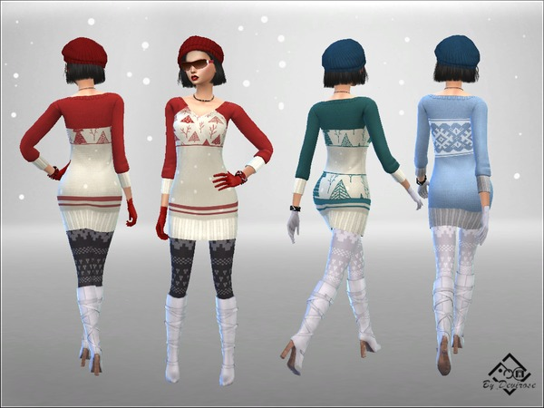 Snow Time Maxi Pullover by Devirose at TSR image 88 Sims 4 Updates