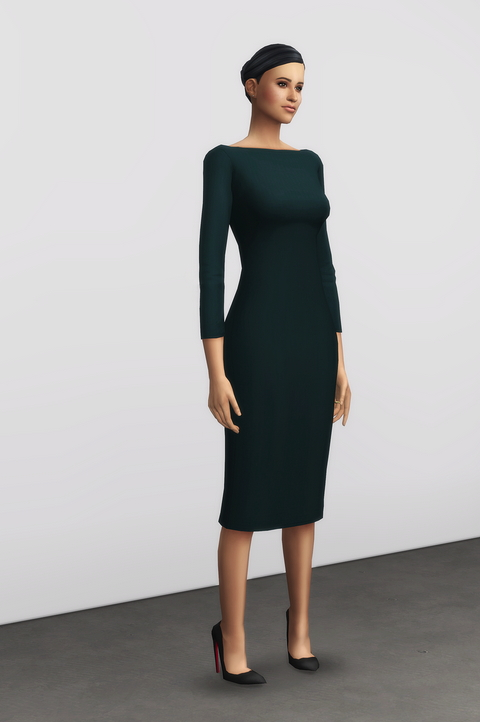 Basic pencil dress V2 at Rusty Nail image 8818 Sims 4 Updates