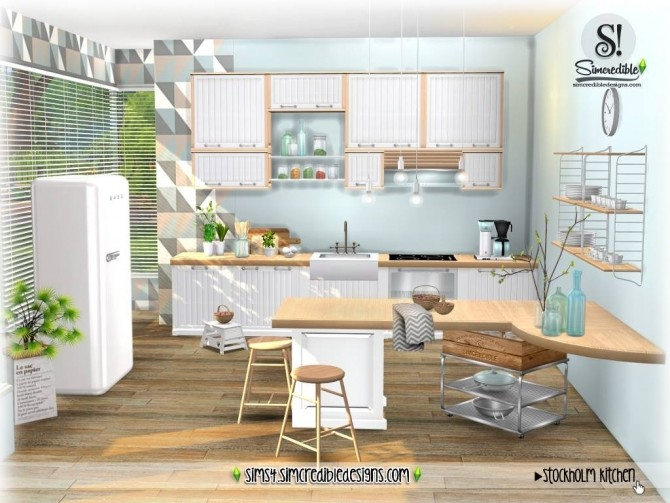 Stockholm Kitchen at SIMcredible! Designs 4 image 883 670x503 Sims 4 Updates