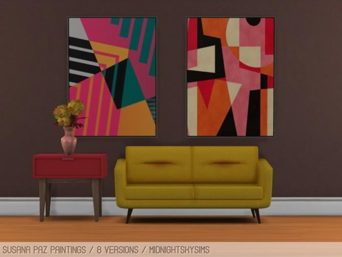 Sims 4 Susana Paz paintings at Midnightskysims