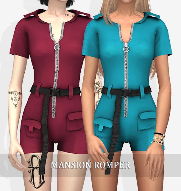 Sims 4 MANSION ROMPER (P) at Grafity cc