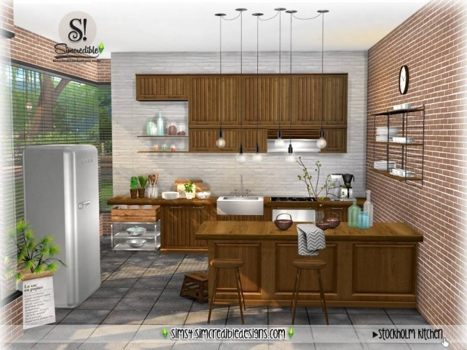 Stockholm Kitchen at SIMcredible! Designs 4 image 893 670x503 Sims 4 Updates