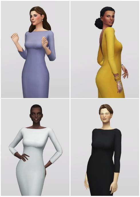 Basic pencil dress V2 at Rusty Nail image 9018 Sims 4 Updates
