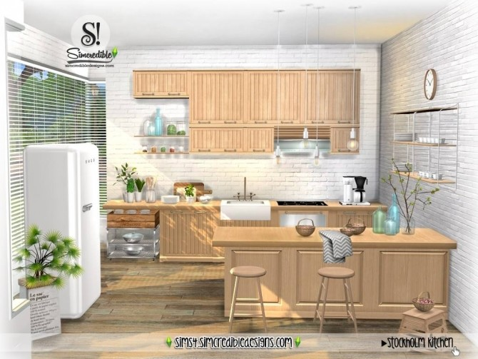 Stockholm Kitchen at SIMcredible! Designs 4 image 903 670x503 Sims 4 Updates