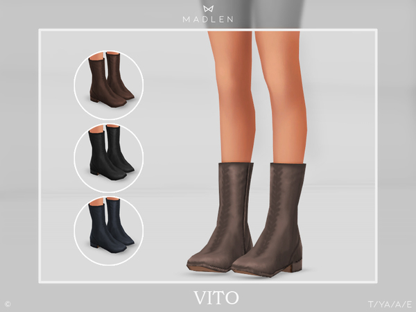 Sims 4 Madlen Vito Boots by MJ95 at TSR
