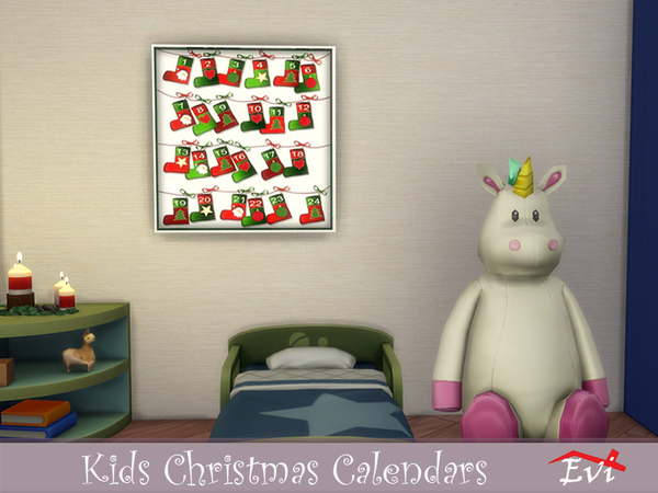 Kids Christmas Calendars by evi at TSR image 910 Sims 4 Updates