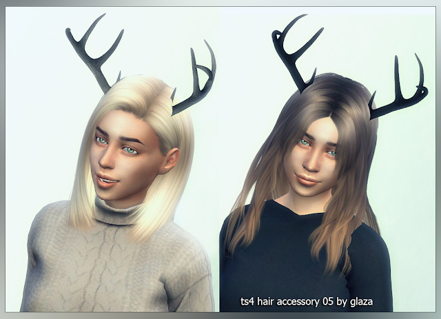 Hair accessory 05 horns at All by Glaza image 911 Sims 4 Updates