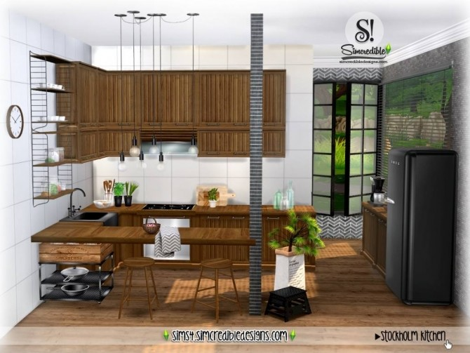 Stockholm Kitchen at SIMcredible! Designs 4 image 914 670x503 Sims 4 Updates