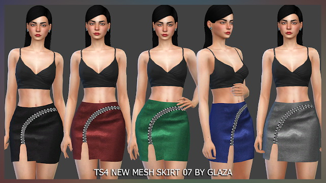 SKIRT 07 at All by Glaza image 921 Sims 4 Updates