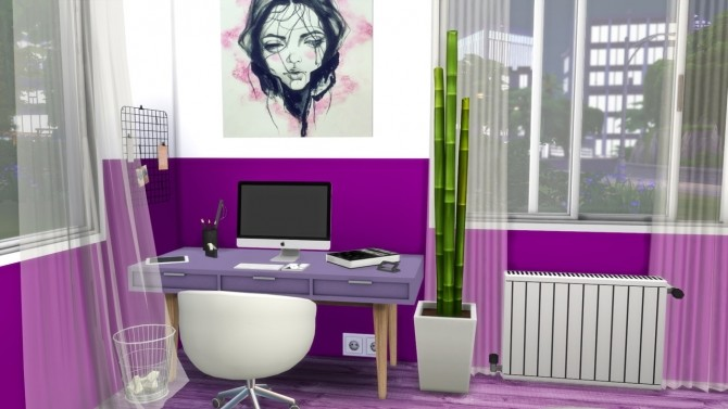 Purple Bedroom At Modelsims4 187 Sims 4 Updates