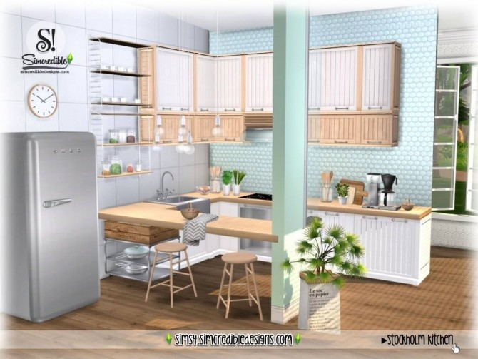 Stockholm Kitchen at SIMcredible! Designs 4 image 923 670x503 Sims 4 Updates