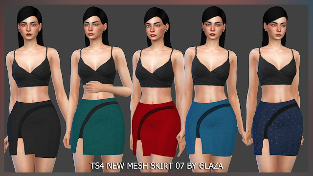 SKIRT 07 at All by Glaza image 931 Sims 4 Updates