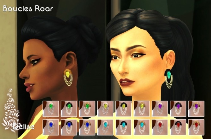 Roar earrings by Delise at Sims Artists image 9314 670x443 Sims 4 Updates