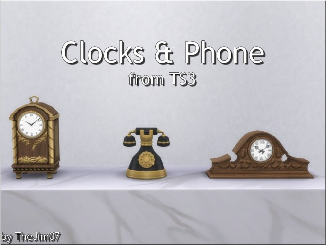 Clocks and Phone from TS3 by TheJim07 at Mod The Sims image 9318 670x503 Sims 4 Updates