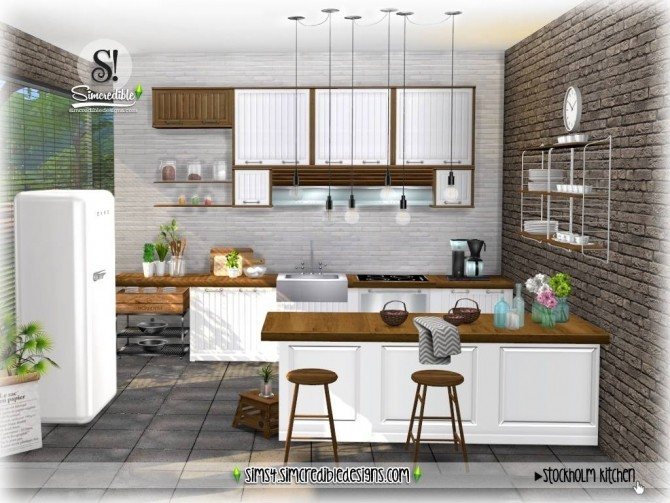 Stockholm Kitchen at SIMcredible! Designs 4 image 933 670x503 Sims 4 Updates