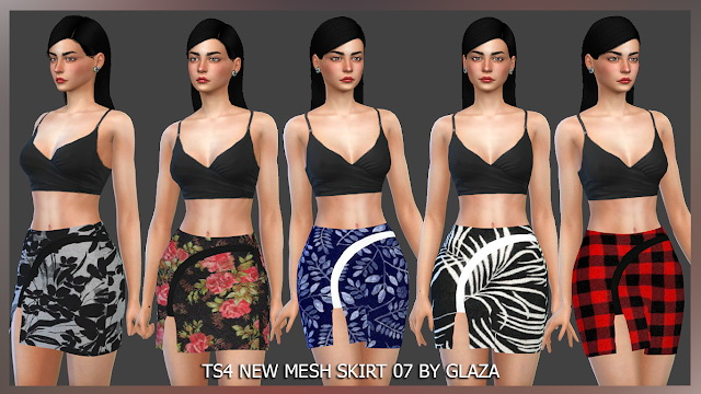 SKIRT 07 at All by Glaza image 941 Sims 4 Updates