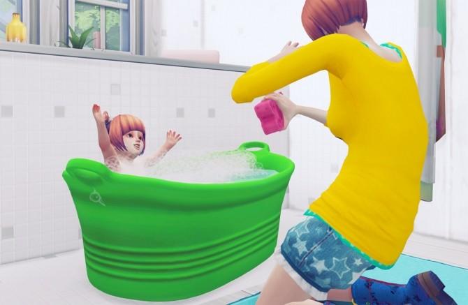 Sims 4 Portable bathtub for Dog and Toddler at Imadako