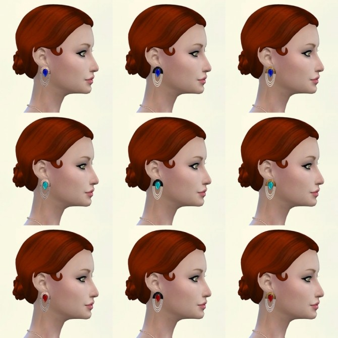 Roar earrings by Delise at Sims Artists image 9414 670x670 Sims 4 Updates
