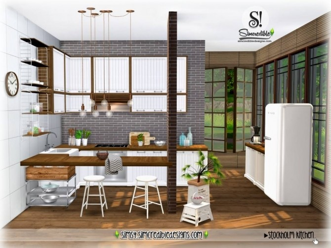 Stockholm Kitchen at SIMcredible! Designs 4 image 943 670x503 Sims 4 Updates