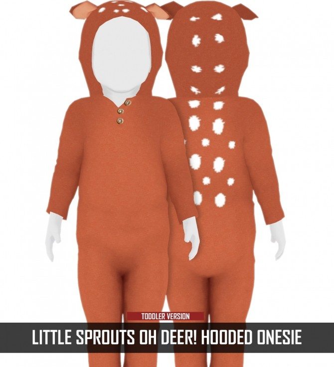 LITTLE SPROUTS OH DEER! HOODED ONESIE at REDHEADSIMS image 951 670x736 Sims 4 Updates