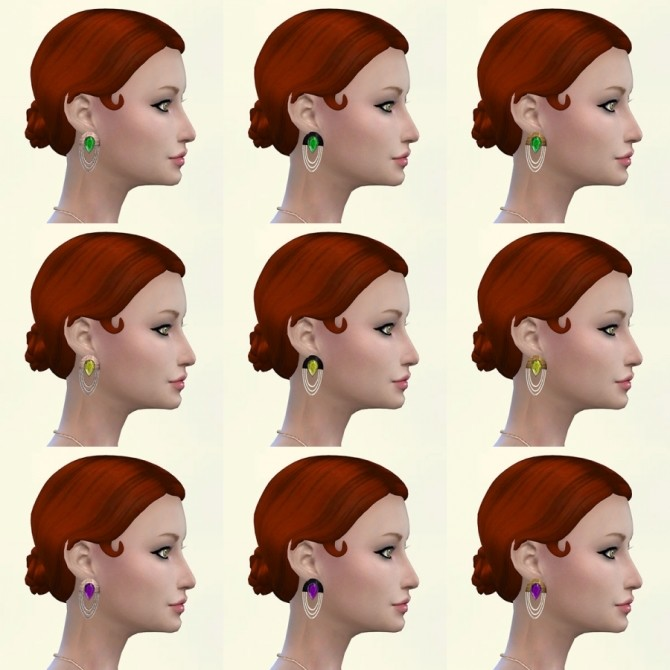 Roar earrings by Delise at Sims Artists image 9511 670x670 Sims 4 Updates