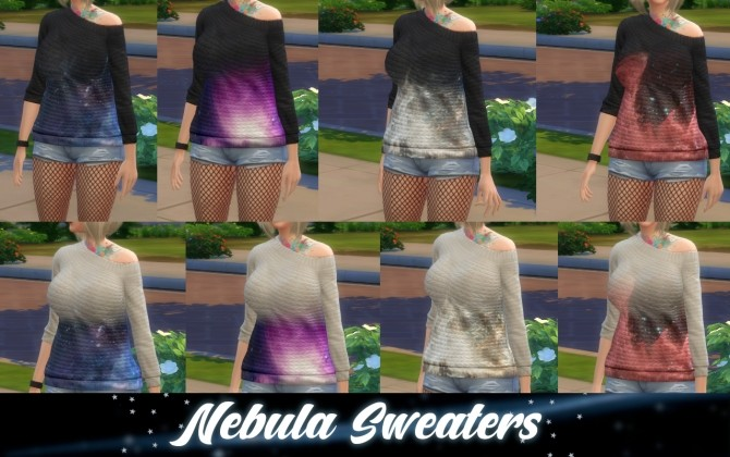 Nebula Sweaters by artystanks at Mod The Sims image 9515 670x420 Sims 4 Updates