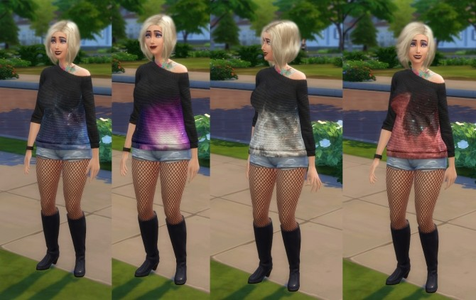 Nebula Sweaters by artystanks at Mod The Sims image 9616 670x422 Sims 4 Updates