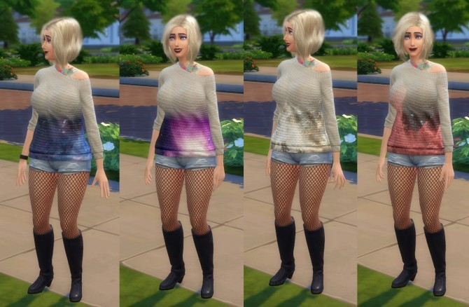 Sims 4 Nebula Sweaters by artystanks at Mod The Sims