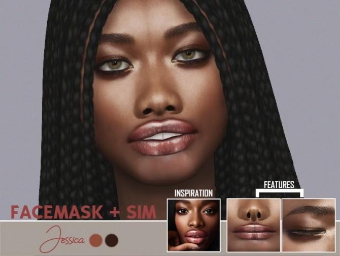 Sims 4 JESSICA FACEMASK AND SIM at REDHEADSIMS