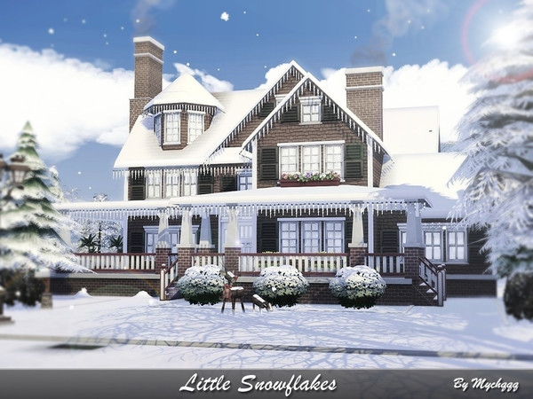 Little Snowflakes house by MychQQQ at TSR image 1020 Sims 4 Updates