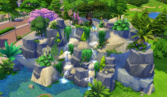 Sims 4 Nightingale Waterfall by Oo NURSE oO at Mod The Sims