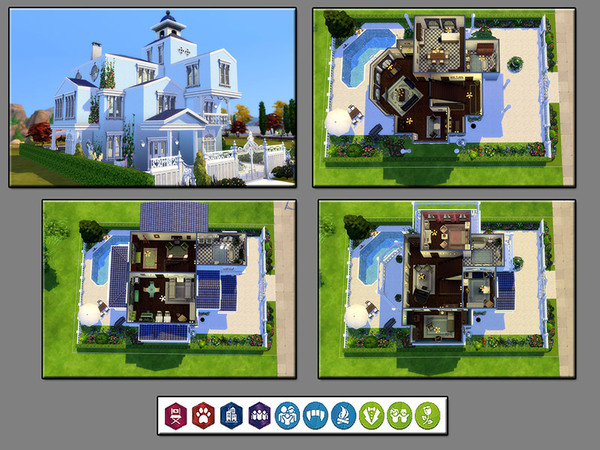 Sims 4 MB Petite Fleur house by matomibotaki at TSR